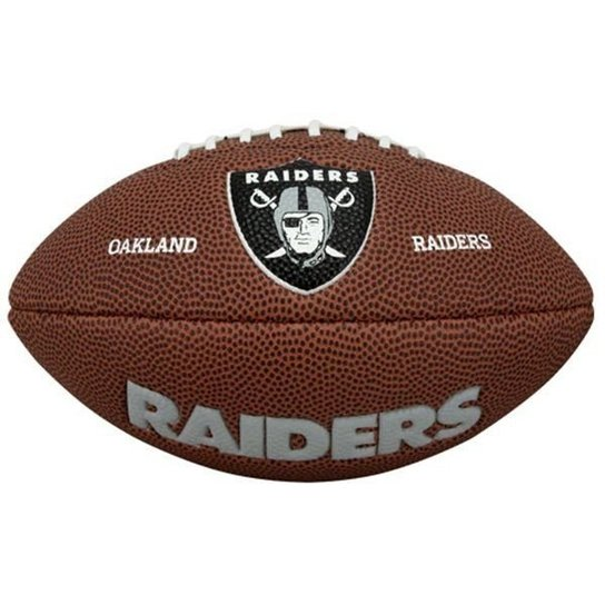 5cb98d6c953 Bola de Futebol Americano NFL Team Jr. Oakland Riders - Wilson - Marrom