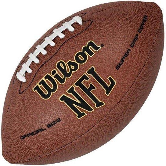 ebb707f7835b1 Bola de Futebol Americano WILSON NFL SUPER GRIP ULTRA COMPOSITE - OFICIAL -  Marrom