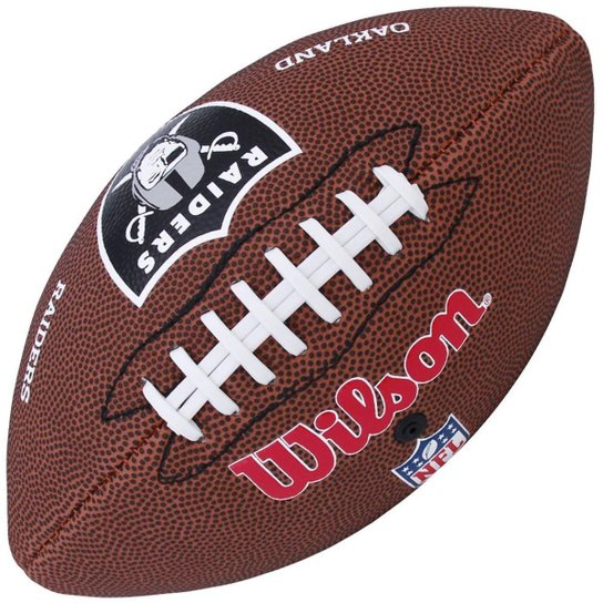 58f552767 Bola Wilson Futebol Americano NFL Team Raiders - Marrom - Compre ...