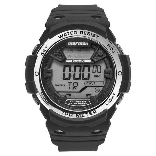 f2c93a5803001 Relógio Mormaii Digital Wave - Preto e Prata - Compre Agora