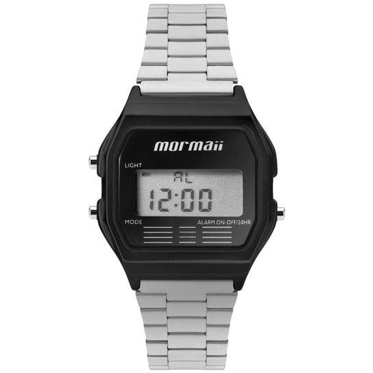 79c658809bd Relógio Mormaii MOJH02AL 4P Masculino - Preto e Prata - Compre Agora ...