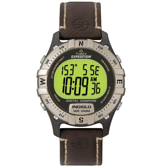 a04596047106 Relógio Timex Masculino Expedition Trail Series Bussóla Digital TI49687 N  Marrom TI49687 N -