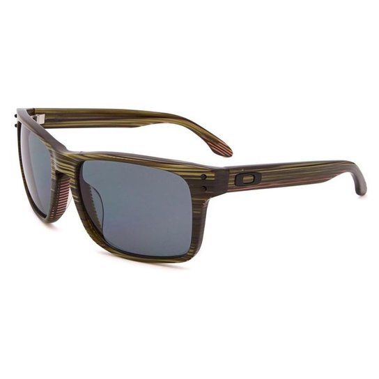 7728998b2c6fc Óculos Oakley Holbrook Lx Banded Green Grey Polarizado - Compre ...