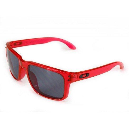 Óculos Oakley Holbrook Crystal Grey - Pink - Compre Agora   Netshoes 598a19b1e9
