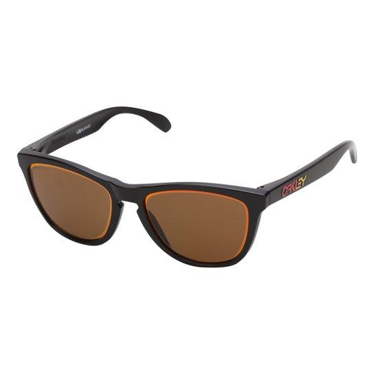 a9230f033e705 Óculos Oakley Frogskins Prizm 0OO9013 Masculino - Marrom - Compre ...