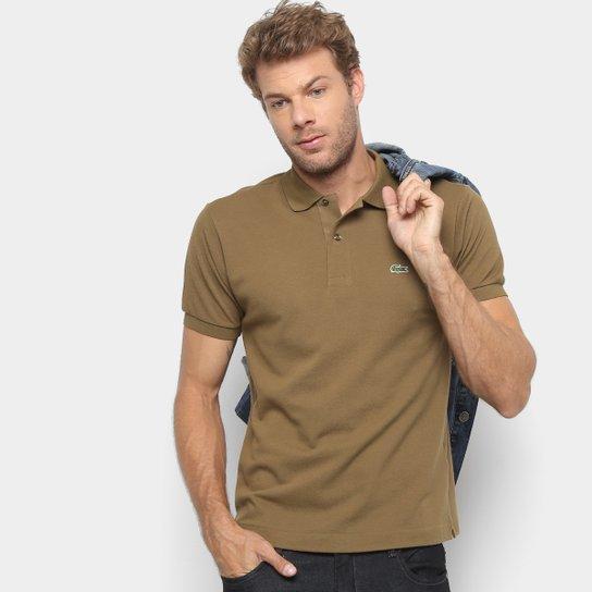 22b3c2967e0 Camisa Polo Lacoste Original Fit Masculina - Marrom - Compre Agora ...