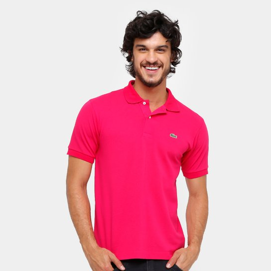 fee7fb18e6a Camisa Polo Lacoste Piquet Original Fit Masculina - Pink - Compre ...