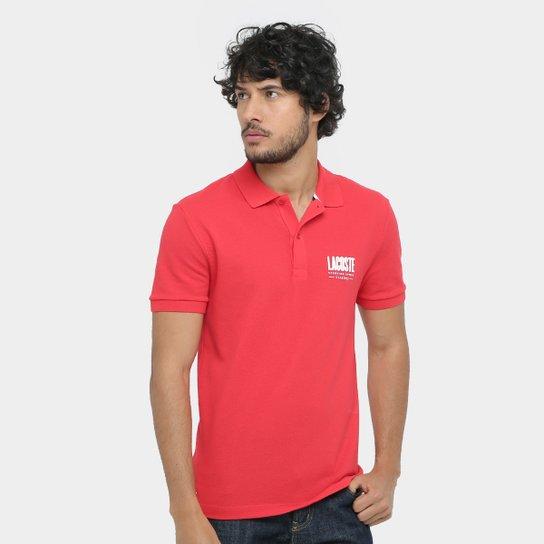 59e162784c2 Camisa Polo Lacoste Piquet Regular Fit Print Logo Masculina - Compre ...