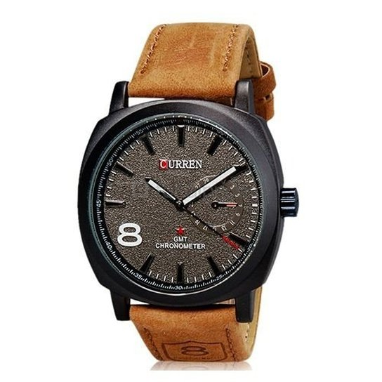 4f309ae01f8 Relógio Curren Analógico - Marrom - Compre Agora