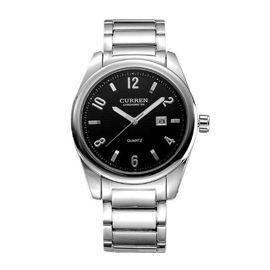 2f4a3ab82e8 Relógio Curren Analógico 8048 Prata e Preto - Compre Agora