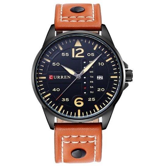 df2c79711be Relógio Masculino Curren Analógico 8224 - Marrom - Compre Agora ...