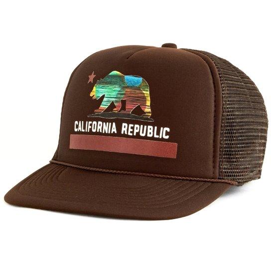 Boné Blanks Co Snap Back California Aba Reta - Marrom - Compre Agora ... ff10d7d8a00