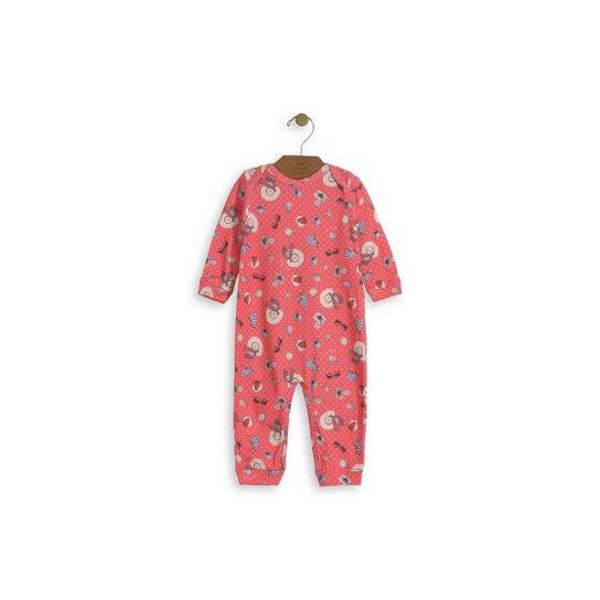 eed505022e3230 Macacão Bebê Up Baby com Barra nos Tornozelos Feminino - Pink