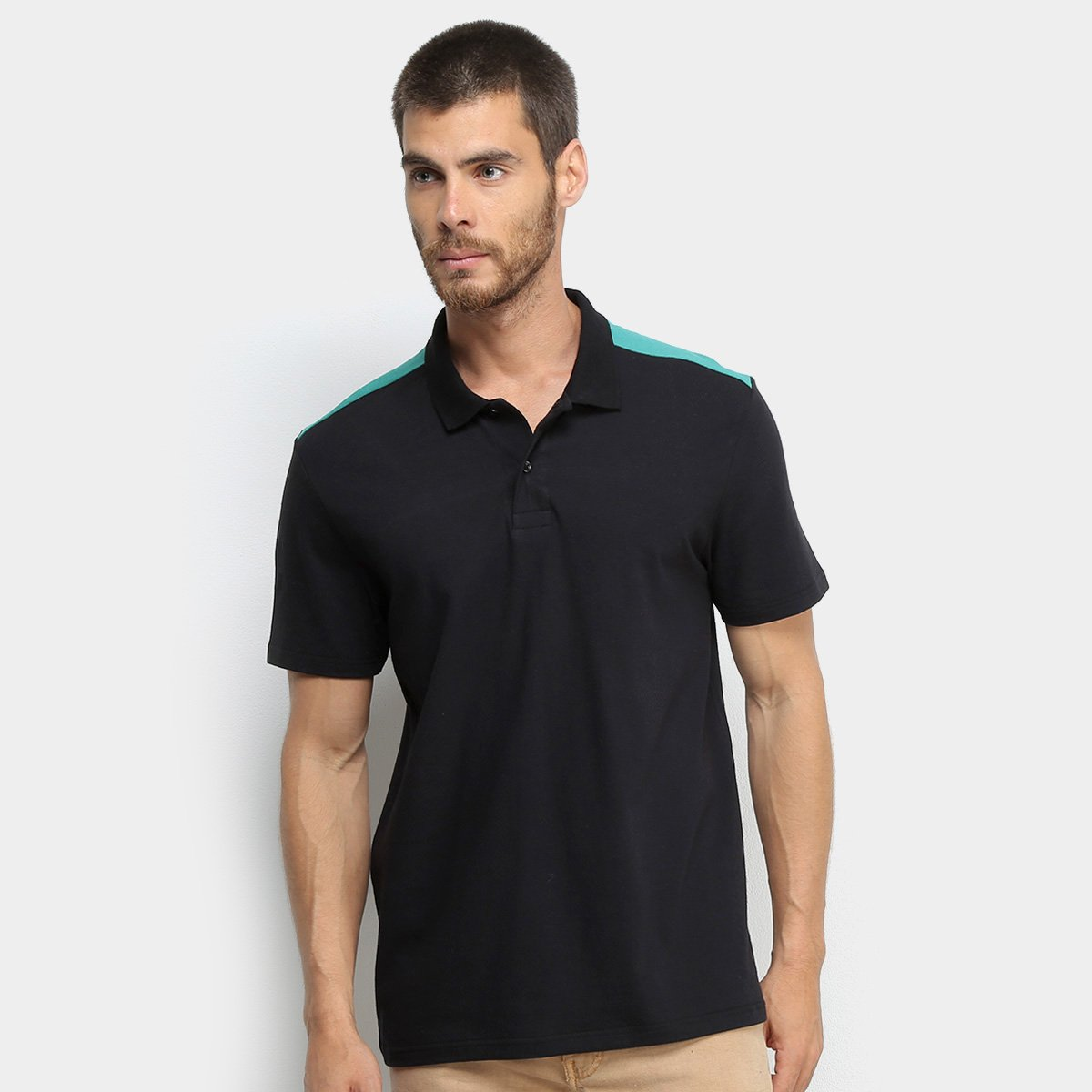 Camisa Polo Burn Colorblock Masculina