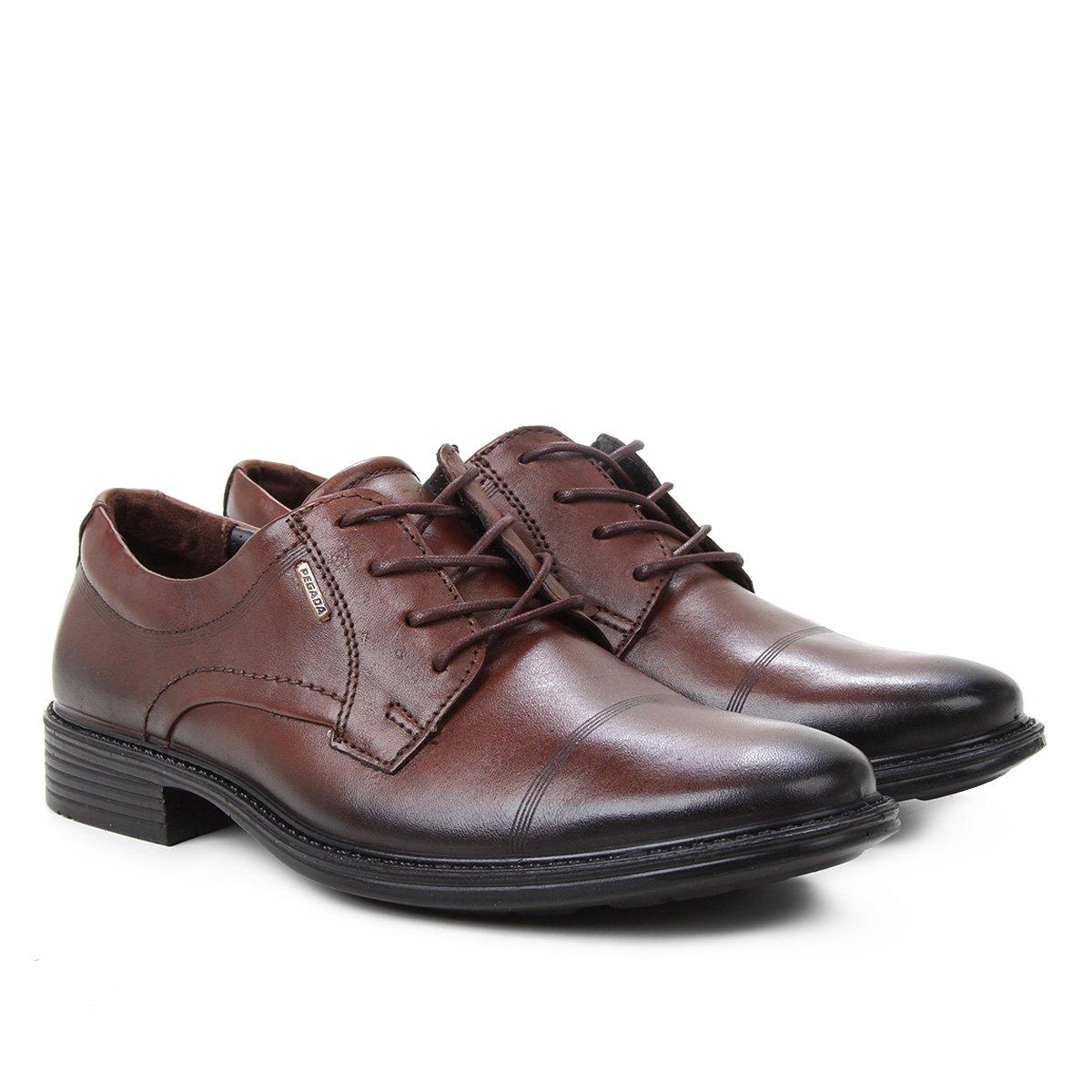Sapato Social Couro Pegada Cadarço Masculino