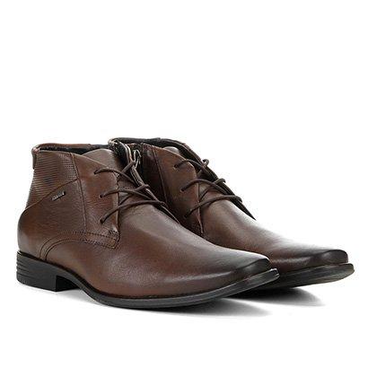 Sapato Social Couro Ferracini Cano Médio Perfuros Masculino