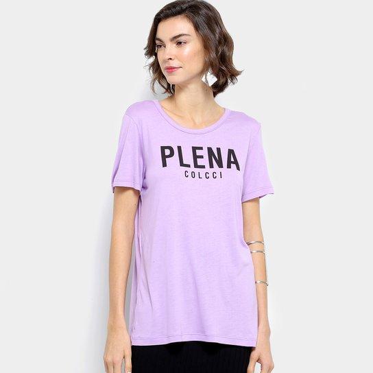f6e80ea16 Camiseta Colcci Estampada Feminina - Lilás | Netshoes