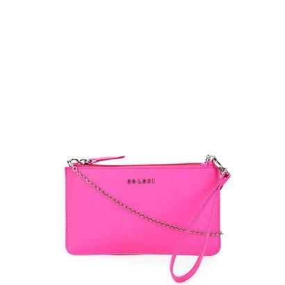 Bolsa Couro Colcci Smartbag Pequena Neon Feminina