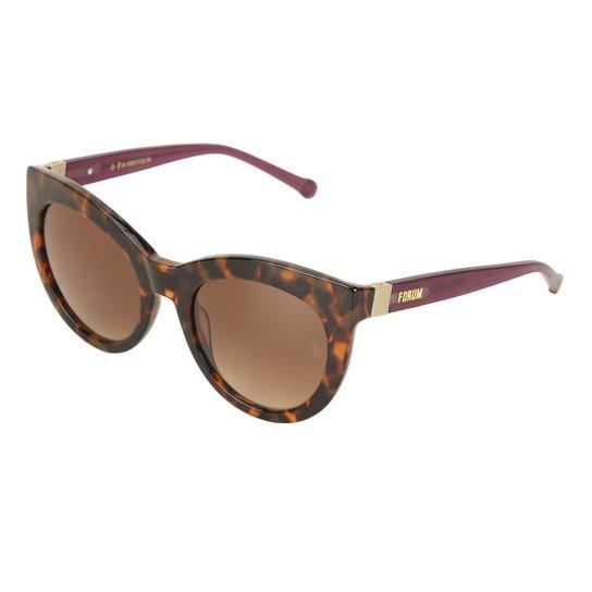 Óculos de Sol Forum Tartaruga Demi Feminino - Marrom - Compre Agora ... 33e7cd6f61