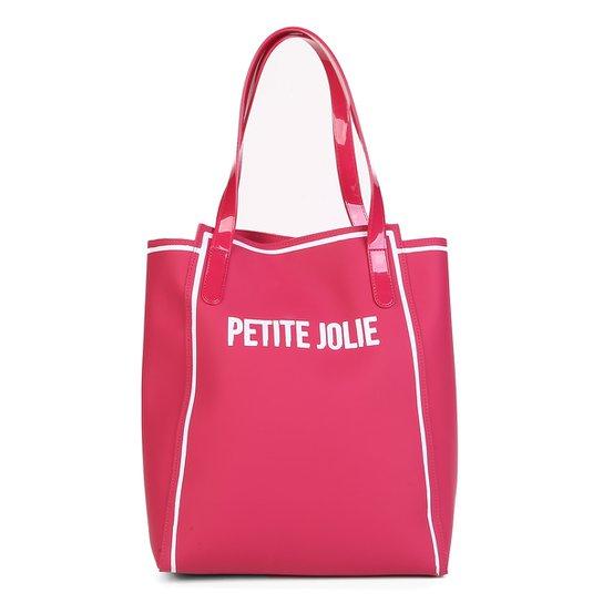 76bbe2d5e7 Bolsa Petite Jolie Shopper Verniz Estampada Gih Ruberp Feminina - Pink