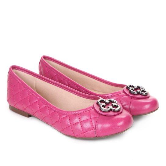 9e3039c5e Sapatilha Infantil Couro Capodarte Matelassê Feminina - Pink ...