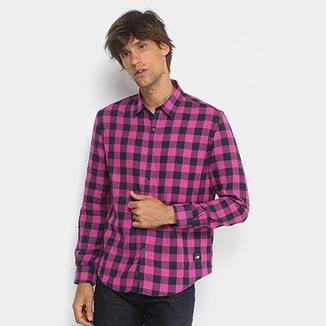 c0cf752163 Camisa Xadrez Manga Longa Ellus 2nd Floor Tecido Duplo Masculina