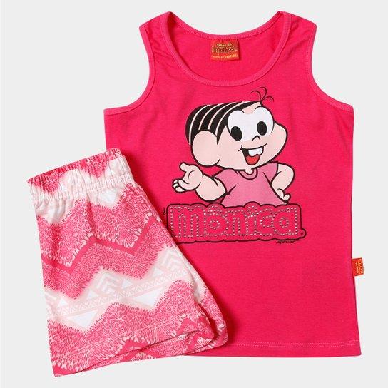 142e16463d Conjunto Brandili Turma Da Mônica Infantil - Pink