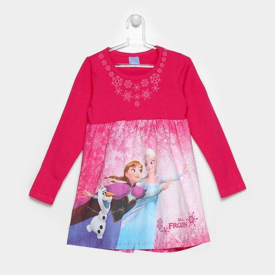 4ed0149e91a Vestido Brandili Disney Frozen Infantil - Compre Agora