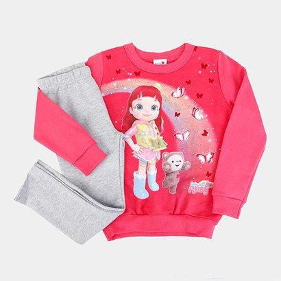 Conjunto Infantil Moletom Brandili Rainbow Ruby Feminino