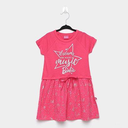 Vestido Infantil Fakini Barbie Dréms Music