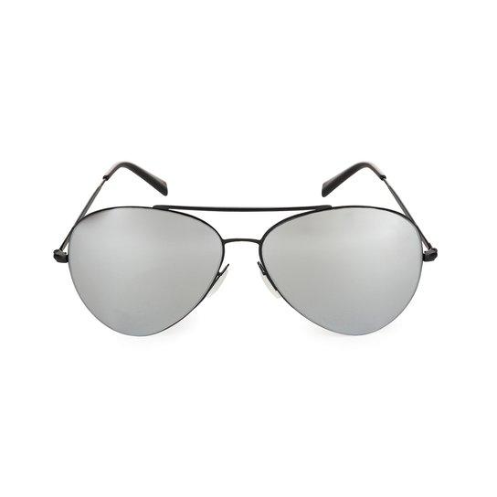 91d1f27afdbda Óculos Marielas Aviador - Preto e Prata - Compre Agora   Netshoes