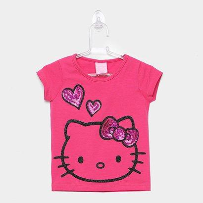 Blusa Infantil Hello Kitty Glitter Paetês Feminina