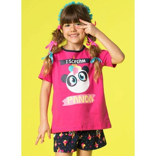 ea54b8ed7f Pijama Infantil Puket Curto Ice Cream Panda - Compre Agora