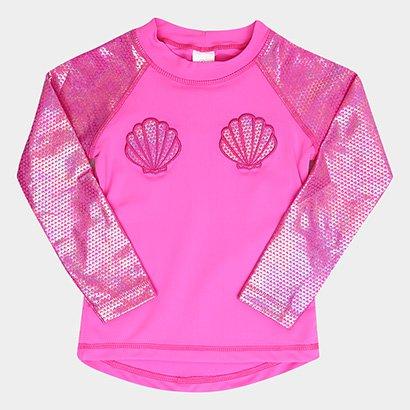 0d62bcf718 Camiseta Infantil Tip Top Moda Praia Sereia FPS+50 Feminina