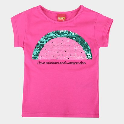Blusa Infantil Kyly Paetês Reversíveis Feminina