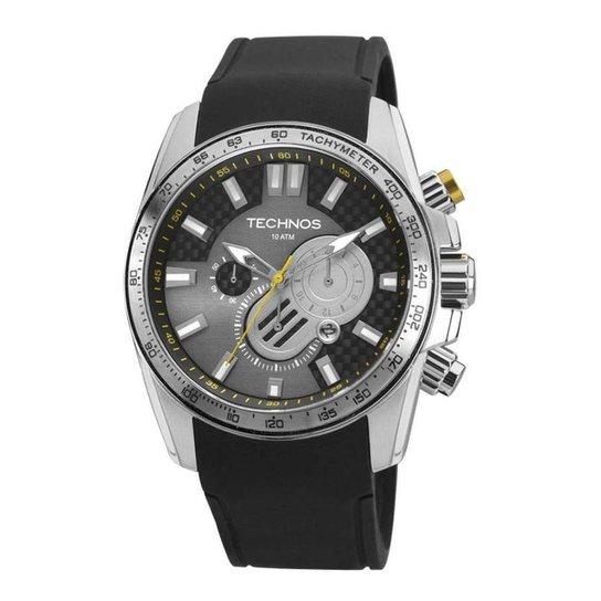 4320d470a7f Relógio Technos sports OS2ABC 8P - Preto e Prata - Compre Agora ...