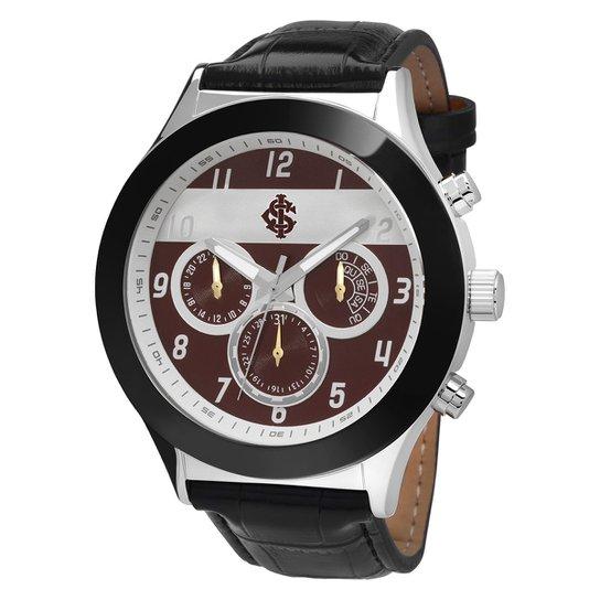 130aa5be752 Relógio Technos Internacional Couro Analógico Cronógrafo - Preto e ...