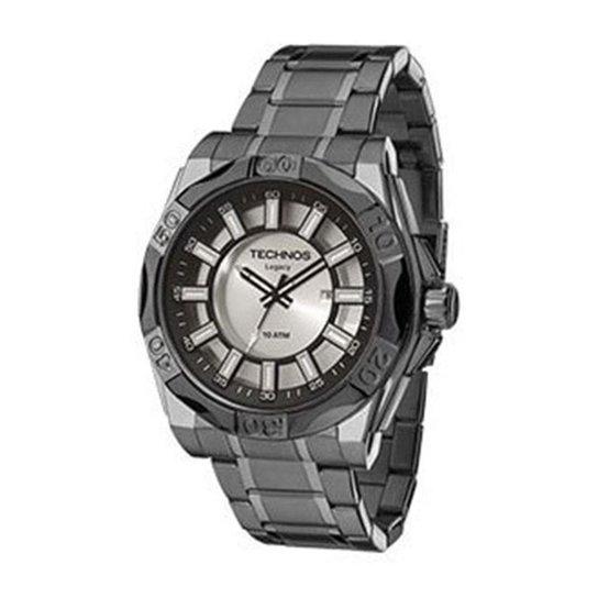 4a4744e11ffeb Relógio Masculino Technos 2115KQ0 1K 51mm Aço Fumê - Fumê - Compre ...