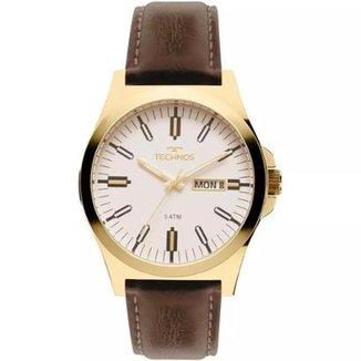 6e06cf003ea Relógio Masculino Technos 2305AZ 2B 44mm Couro