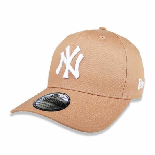 Boné New York Yankees 3930 White on Brown MLB - New Era - Marrom ... 4b008794855