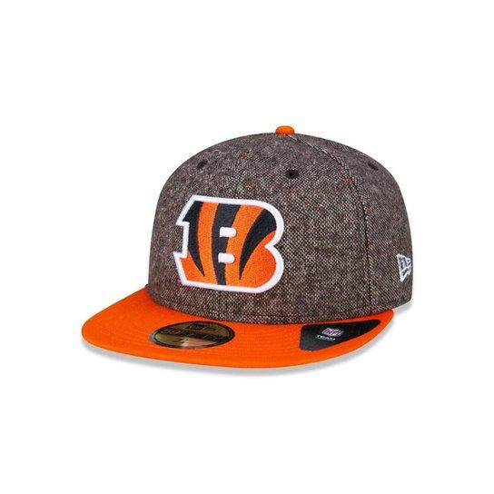e4a3025367 Boné 5950 Cincinnati Bengals NFL Aba Reta New Era - Marrom - Compre ...