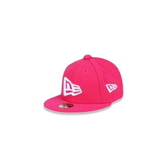 cd9cf42810e5b Boné 950 Branded Aba Reta New Era - Pink - Compre Agora