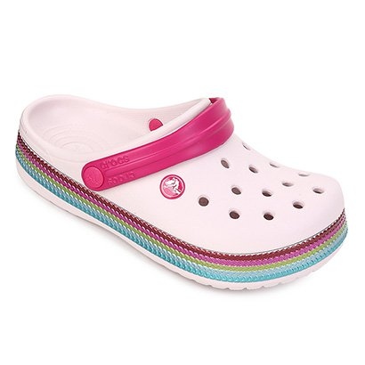 Sandália Crocs Infantil Crocband Sequin Band Clog
