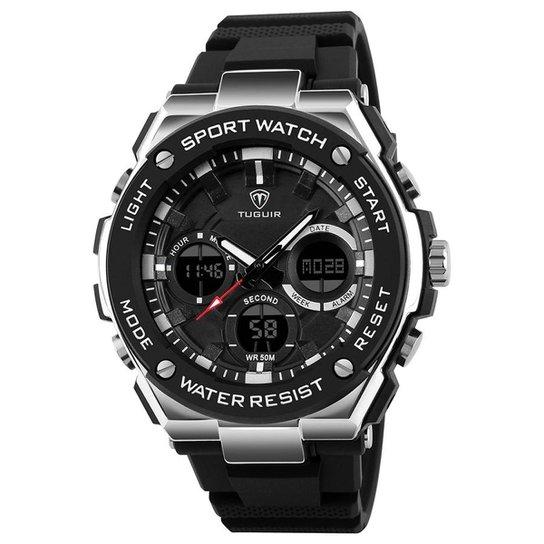 d2a740ed44f Relógio Tuguir Digital TG1187 - Preto e Prata - Compre Agora