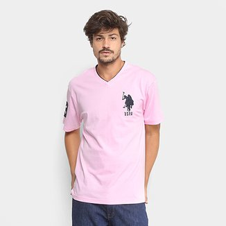 8241ad1dce Camiseta U.S. Polo Assn Bordado Gola V Masculina