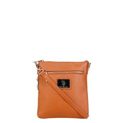 Bolsa U.S. Polo Assn Mini Bag Placa Metal Zíper Feminina