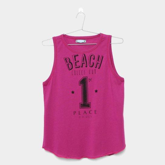 7de7c7093 Regata Infantil Colcci Fun Estampada Feminino - Pink - Compre Agora ...