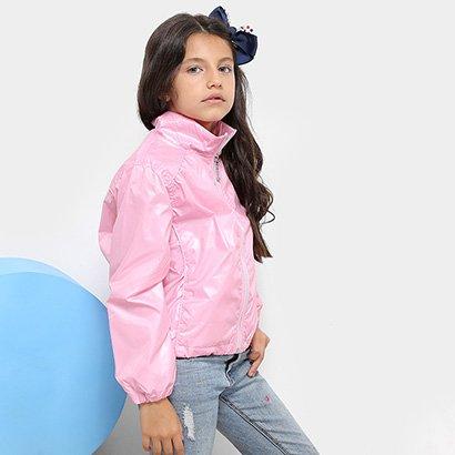 Jaqueta Infantil Zeep! Quebra Vento Metalizada Feminina