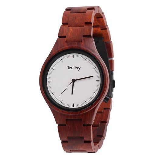 79227f0ae75 Relógio Masculino Truliny de Madeira Falcon - Marrom - Compre Agora ...