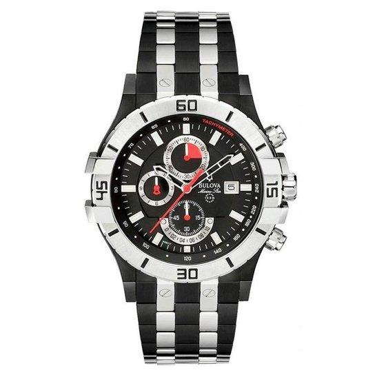 8afc74a29dc Relógio Bulova Masculino Marine Star - WB30999T - Preto e Prata ...